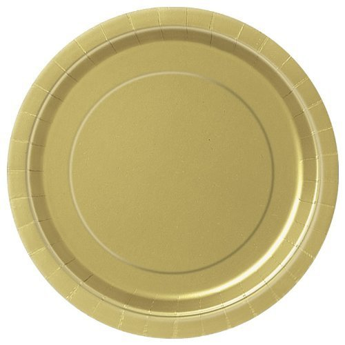 32 GOLD Paper Plates Disposable 9