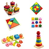 Zuma Store The Wooden Educational Toy Set Gift Sets - 6 Sets