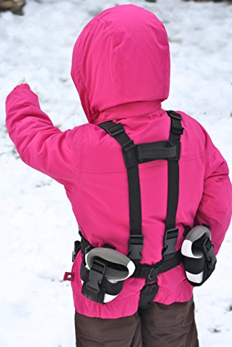 Lil' Ripper Gripper Kids Ski Harness and Snowboard Harness with Retractable Leashes and Tip Connector ()