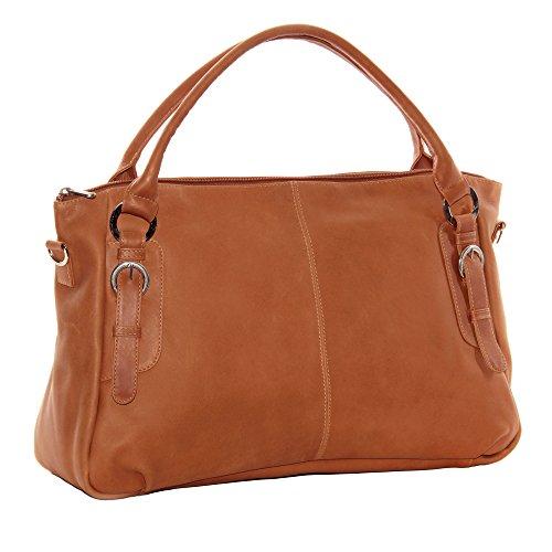 Piel Leather Large Handbag Cross Body Bag, Honey, One Size