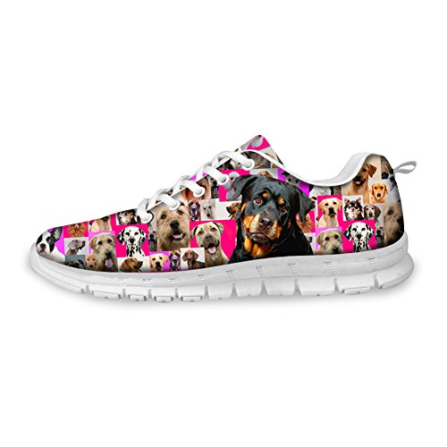 Knuffels Idee Honden Print Leuke Dames Lichtgewicht Comfortabele Sneakers Rottweiler
