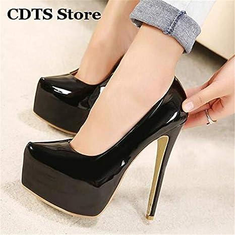35f091b89b4 Amazon.com: Crossdresser Plus:35-43 44 Spring/Autumn Stiletto 15cm Thin  high Heels Nightclub Pumps Women's Wedding Shoes Zapatos: Garden & Outdoor