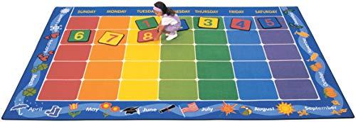 Carpets for Kids 1134 Theme Calendar Kids Rug Rug Size: 8'4