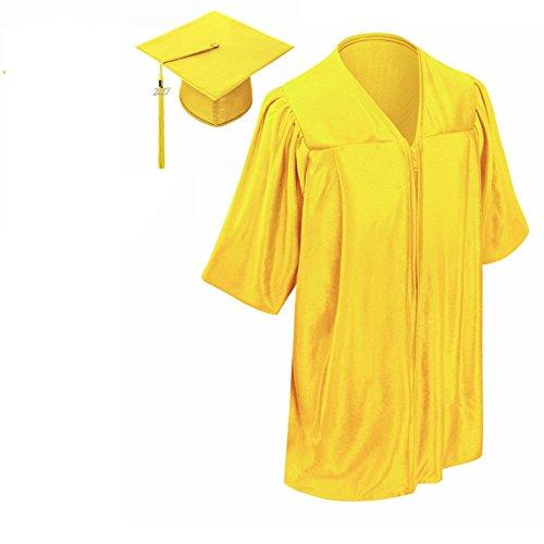 Lescapsgown Kindergarten Graduation Gown Cap Tassel Set 2018 Gold