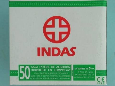 GASA ESTERIL INDAS CAJA 50 UNID SOBRE 5 U: Amazon.es: Salud y ...