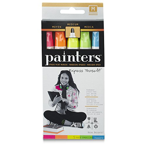 Elmer's Painters Opaque Paint Marker, Fine Point, Neon Brights, 1-Pack of 5