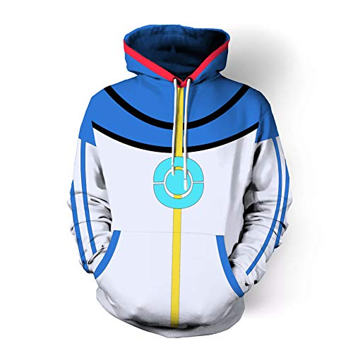 TngHui Adult Size Ash Ketchum Cosplay Costume Sweater Commemorative Clothes Unisex-Adult ()