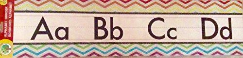 Teaching Tree Manuscript Alphabet Bulletin Back to School Board Set Creative Strips School Office Resources Scholastic Teacher Teacher's Bulletin Trim Wall Border Decal Classroom Decor Set L1 - Silver Border Trim Set