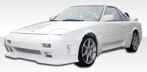1985-1989 Toyota MR2 Duraflex F-1 Kit- Includes F-1 Front Bumper (100702), F-1 Rear Bumper (100703), and F-1 Sideskirts (100704). - Duraflex Body Kits