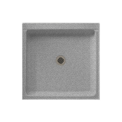(Swanstone SS-3636-042 Solid Surface Center Drain Shower Base, 36