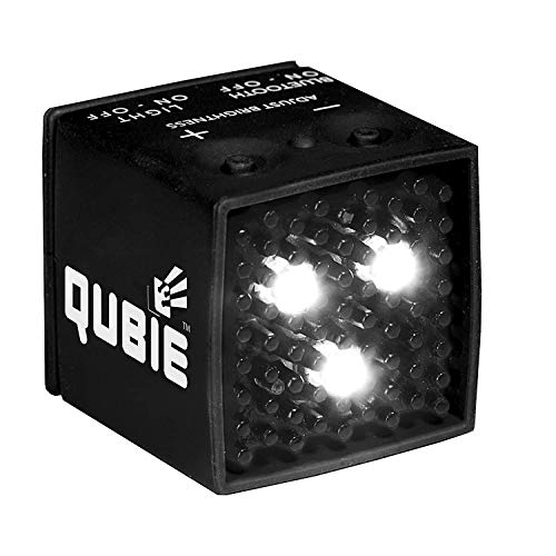 QUBIE - Bluetooth LED Light (Black) for photography and lighting