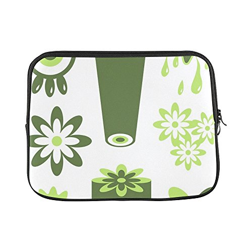Computer Icon Bag Wheeled (Design Custom Icons Shapes Symbols Set Collection Retro Flowers Sleeve Soft Laptop Case Bag Pouch Skin For Macbook Air 11