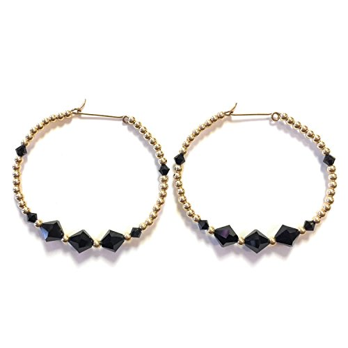 14Kt Gold Filled Beaded Hoop Earrings