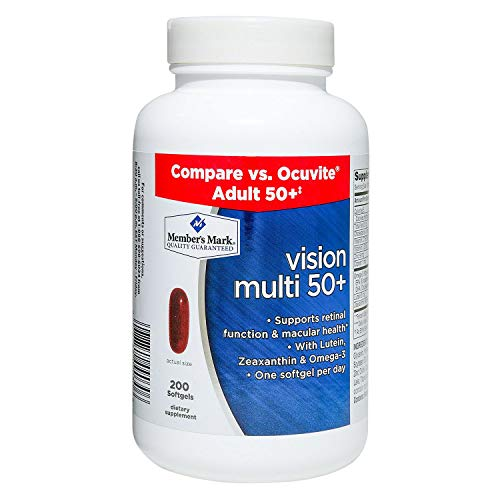 Members Mark Vision Multi 50+ with Lutein Zeaxanthin and Omega-3 (1 Bottle (200 Softgels))