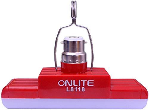 Onlite L8118 100 Watts AC/DC Extra Bright White Rechargeable b22d Emergency Light Bulb CFL Led Tube Bulb Torch, Night…
