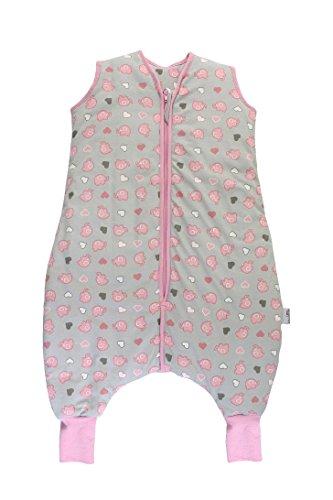 Slumbersac Summer Sleeping Bag with Feet 2.5 Tog Simply Pink Elephants 18-24 Months
