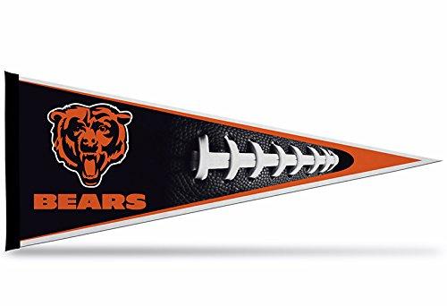 - Rico Industries NFL Chicago Bears Pennant, Black, 12 x 30