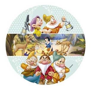 Disney Die Sieben Zwerge 21 Cm Tortendekoration Essbar Aus