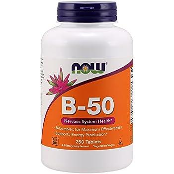 NOW Vitamin B-50 mg,250 Tablets