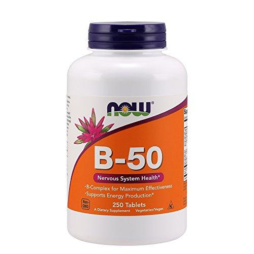 Complex 50 Vitamin Tablets B (NOW Vitamin B-50 mg,250 Tablets)