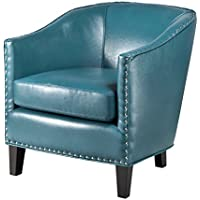 Madison Park Fremont Barrel Arm Chair Blue See Below