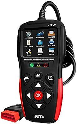 Modelo 2019 Juta JT600 esc/áner Universal Mejorado EOBD OBD2 Lector de c/ódigo de Error de comprobaci/ón del Motor luz OBD-II Can Herramienta de diagn/óstico con Datos en Vivo