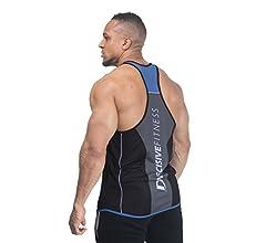 2/tonalit/à tessuto traspirante Decisive Fitness da uomo Canottiera incrociata sulle spalle