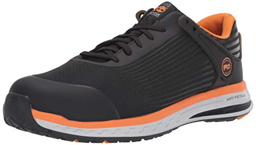 Timberland PRO Men's Drivetrain Composite Toe EH Industrial Boot, Black/Orange, 9 W - Mesh Orange Safety