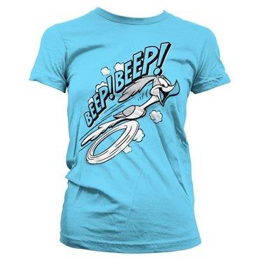 Camiseta Looney Beep Azul Tunes Oficialmente Cielo Licenciado Mujer vv6wHfxX