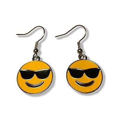 Gafas de sol Emoji Dangle Pendientes: Amazon.es: Joyería