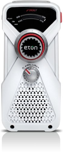 American Red Cross FRX1 Hand Turbine AM/FM Weather Radio and LED Flashlight - White (Discontinued by Manufacturer)
