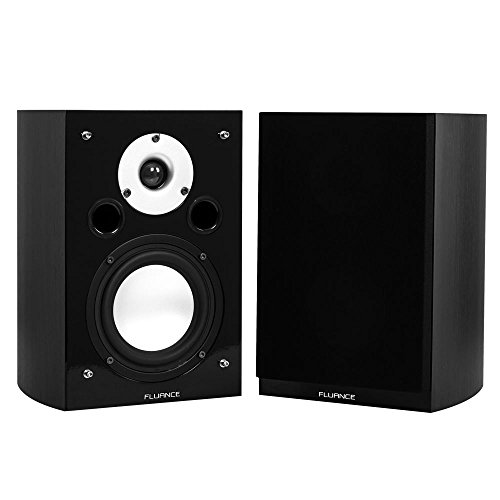 Fluance XL7S High Performance Two-way Bookshelf Surround Sound Speakers for Home Theater and Music Systems - Black Ash by Fluance