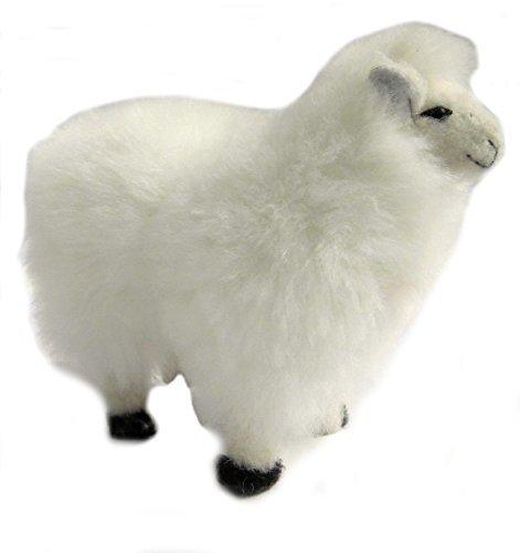 Alpakaandmore, Baby Alpaca Fur Stuffed Peruvian Sheep Toy Handmade 12 Inch