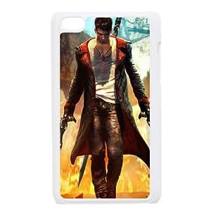 Devil May Cry 3 funda iPod Touch 4 caja funda del teléfono celular blanco cubierta de la caja funda EEECBCAAB10253