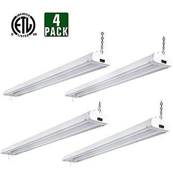 Hykolity 4ft 42 watt led shop light garage workbench ceiling lamp 5000k daylight white 3700 lumens