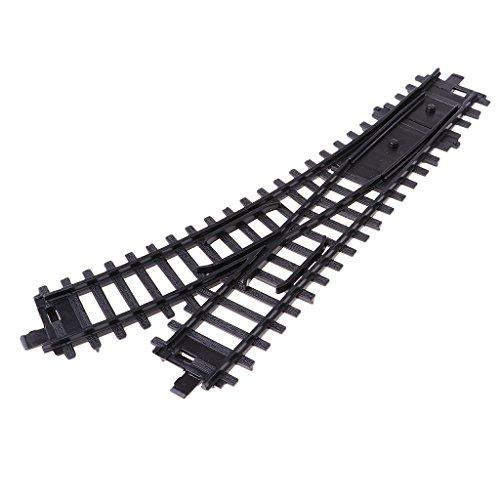 sunnimix Hoスケールプラスチックモデル列車トラックStreetcarレール10インチ/ 27cm右スイッチ
