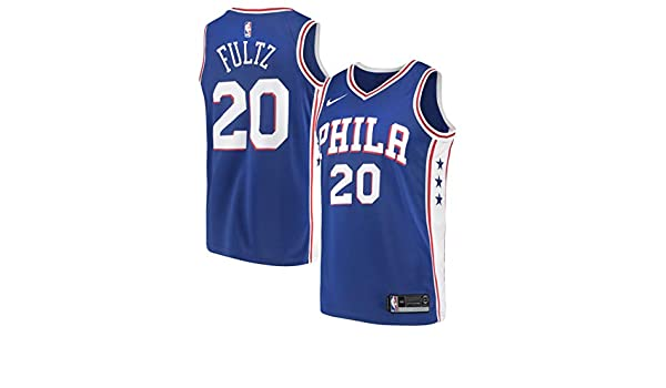 41db93a66e61 Nike Men s Philadelphia 76ers Markelle Fultz Blue Swingman Jersey Icon  Edition (Large)
