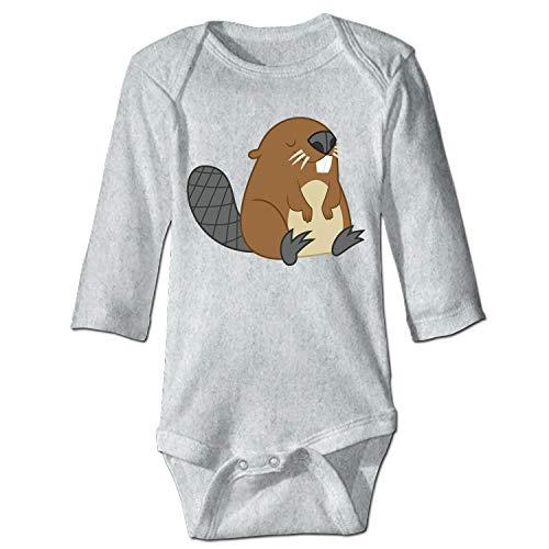 YSKHDBC Baby Boy Jumpsuit Soft Onesie Beaver Romper Long Sleeve Bodysuit for -