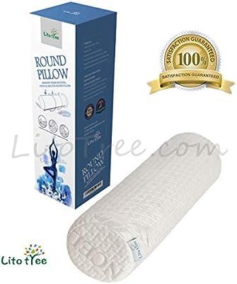 Bolster Half Round Memory Foam Pillow Leg Neck Cervical /& Lumbar Support