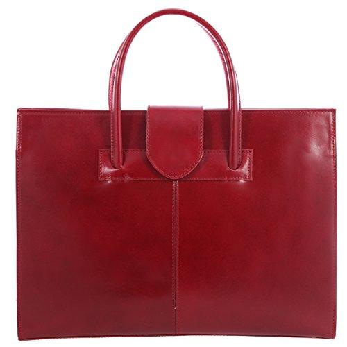 Portadocumenti Moda Italy Made A Tutto Cartella Pelle 100 Mano Borsa Tracolla Chicca Vera Donna E Rosso In zwq5OCRZ