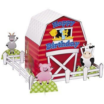 Farm 1st Birthday Centerpiece - Party Tableware & Table Decorations -