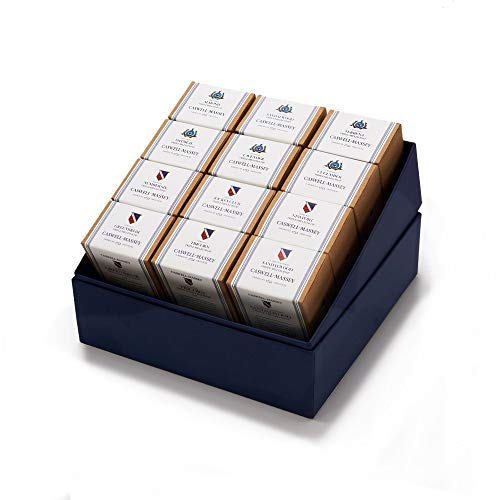 Caswell-Massey Triple Milled Master Collection Luxury Bath Soap - Year of Soap Boxed Set – 12 Classic Fragrances - 5.8 Ounce Each, 12 Bars