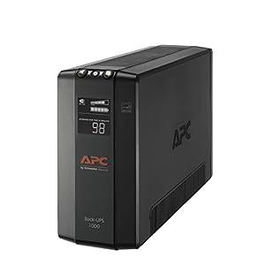 APC UPS, 1000VA UPS Battery Backup & Surge Protector with AVR, Back-UPS Pro Uninterruptible Power Supply (BX1000M)