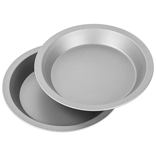 "OvenStuff Non-Stick 9"" Pie Pans, Set of Two - American-Made, Non-Stick Pie Baking Pan Set, Easy to Clean (Pan Stick Non Metal)"