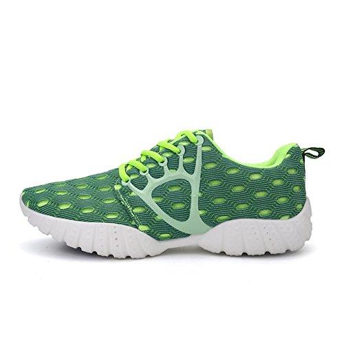 Tempo Libero per da Ginnastica Verde Sneakers con Uomo per da Scarpe Il Scarpe Cricket Lacci Piatte 4vUAwqqx