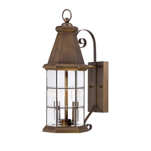 Savoy House 5-5950-290 Outdoor Sconce with Clear Bevel Shades, Burnished Sienna Finish Burnished Finish Outdoor Sconce