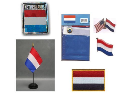 Moon Netherlands Heritage Flag Set  - Bright Color UV Resist