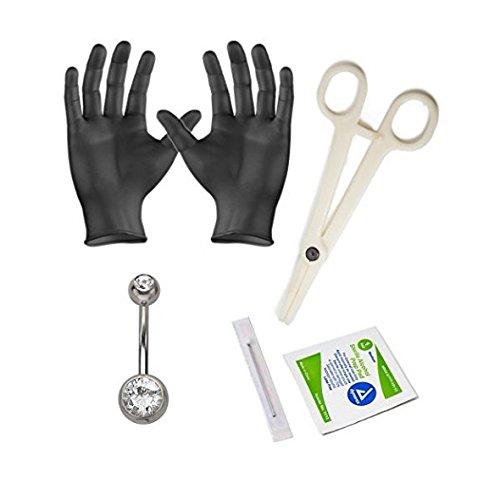 Body Piercing Kit 14G 16G 18G Body Jewelry Forceps Needles (Belly)