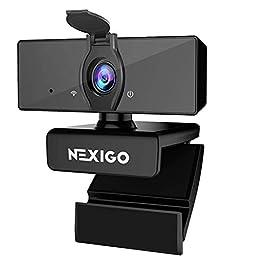 1080P Business Webcam with Dual Microphone & Privacy Cover, 2021 [Upgraded] NexiGo USB FHD Web Computer Camera, Plug and…