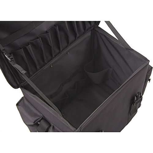 4ce98dcac275 JustCase T5372 2-In-1 Professional Soft Sided Hair Stylist Rolling Makeup  Cosmetic Travel